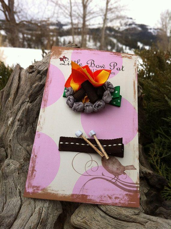 Marshmallows Campfire  Ribbon Sculpture Set by patyg13 on Etsy, $7.50