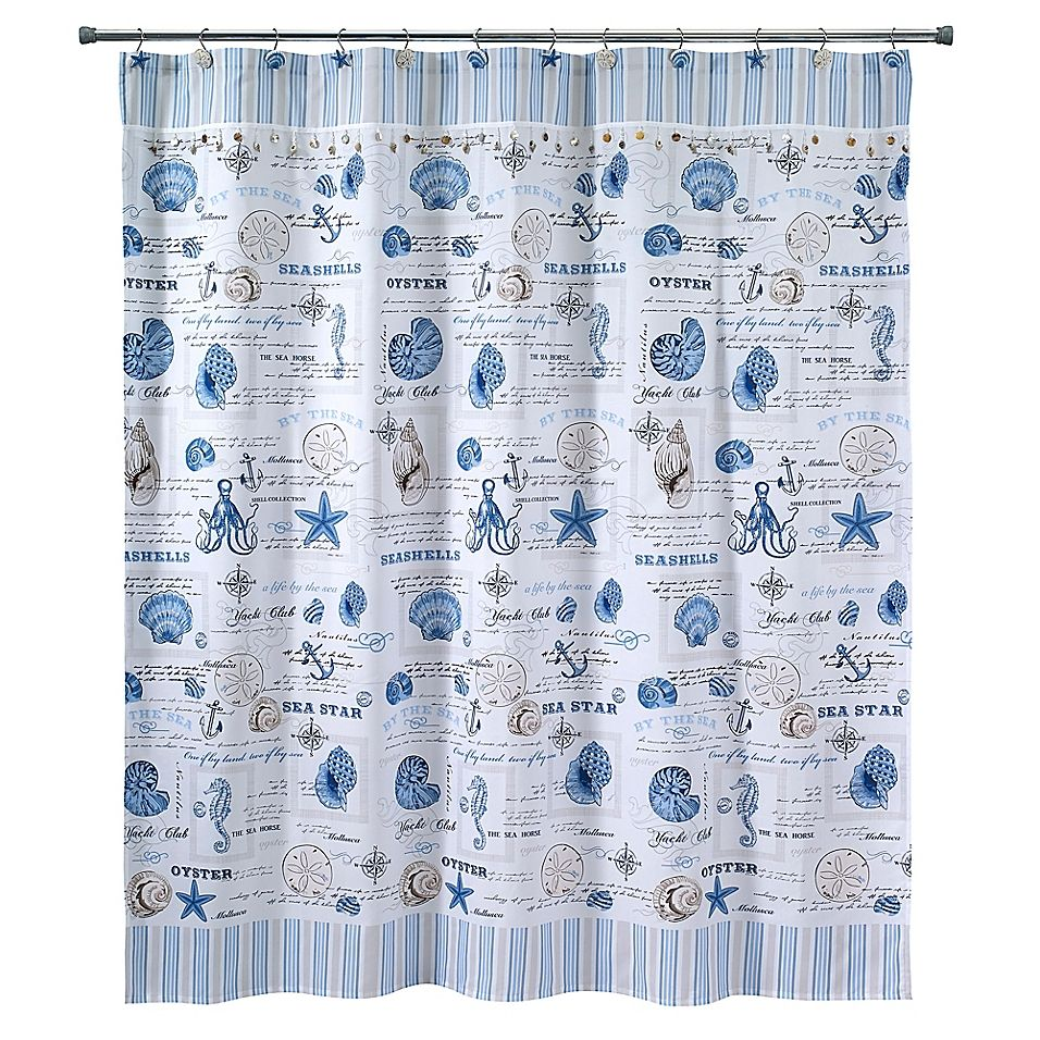 Avanti Island View 72 Inch X 72 Inch Shower Curtain Bath