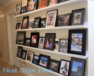 Three Simple Decorating DIYs With BIG Impact!  Pottery Barn knock off picture ledges
