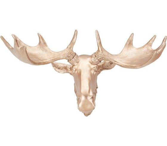 Popular Wanddeko in Bronzefarbe ein Elchkopf f r Ihre Wand