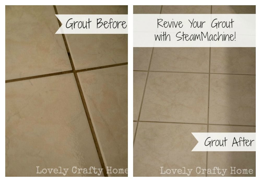 Grout Before and After SteamMachine Lovely Crafty Home