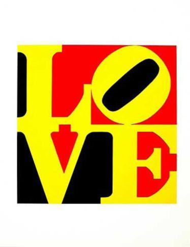 Die deutsche Liebe Serigraph by Robert Indiana at Art.com