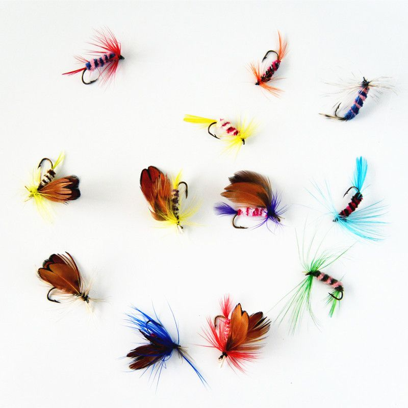 12 pcs/set Various Dry Fly  Fishing Trout Salmon Dry Flies Fish Hook Lures  fishing fishing pesca <3 Haciendo click sobre la VISITA botón le llevará a encontrar productos similares