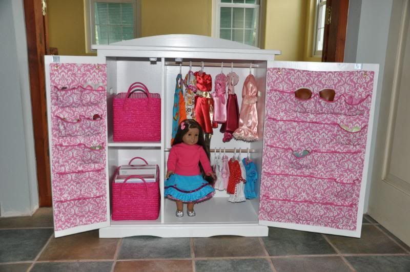 Amazing Doll Armoire That My Hubby Made.