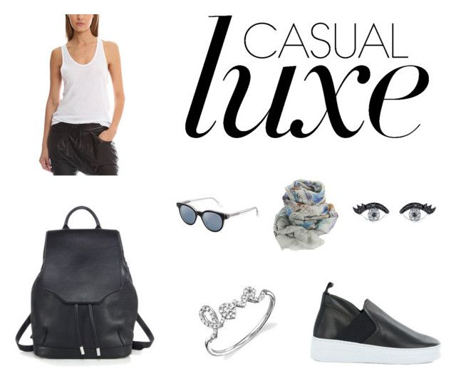 """""""Casual Luxe"""" by blueandcream ❤ liked on Polyvore featuring T By Alexander Wang, rag & bone, Sydney Evan, IRO, RetroSuperFuture and Faliero Sarti"""