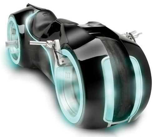This Tron cycle is STREET LEGAL.