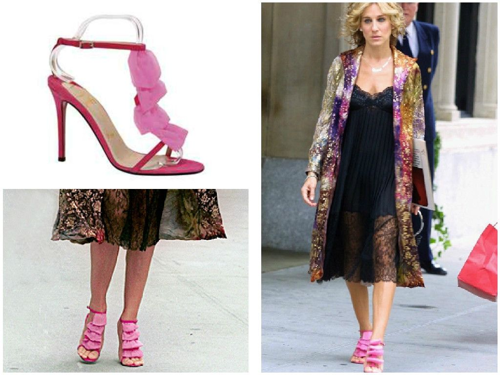 Carrie Bradshaw Pink And Blue Shoes