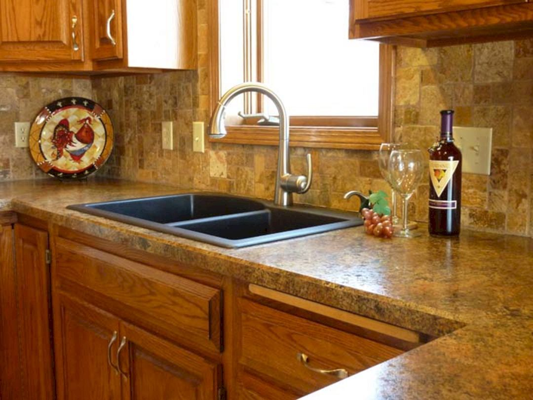 15 Modern Kitchen Countertops Design Ideas For Kitchen Looks More Beautiful And Comfortable Freshouz Com Tile Countertops Interior Design Kitchen Kitchen Design