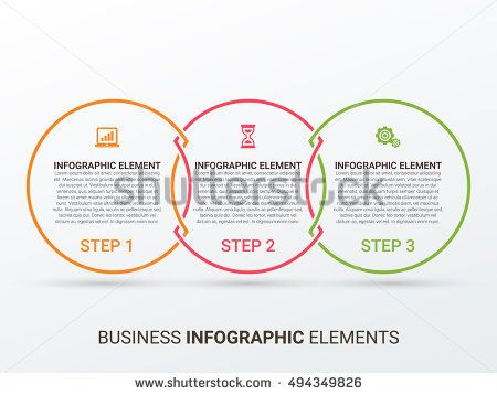Outline circular infographic minimalistic diagram chart graph minimalistic diagram chart graph with 3 steps options ccuart Images