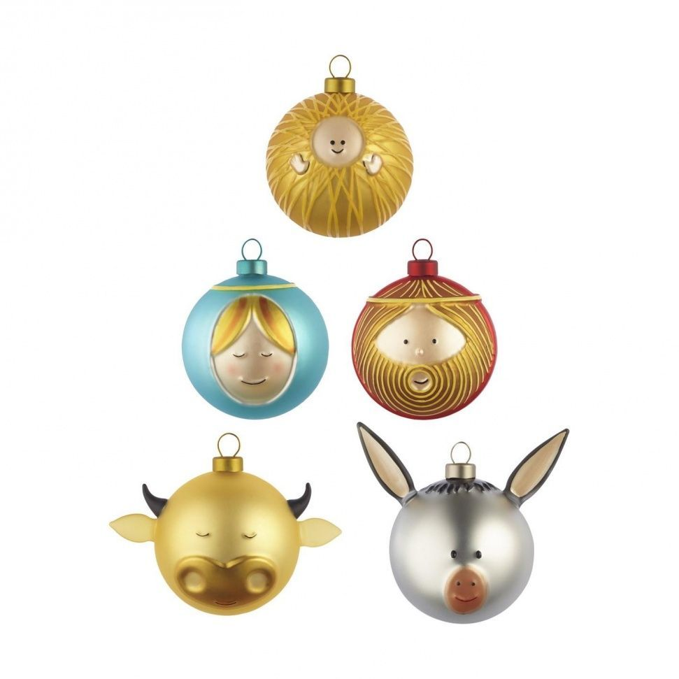 Alessi Palle Presepe Weihnachtsbaumkugeln Christmas Ornaments Christmas Baubles Christmas Ornament Sets