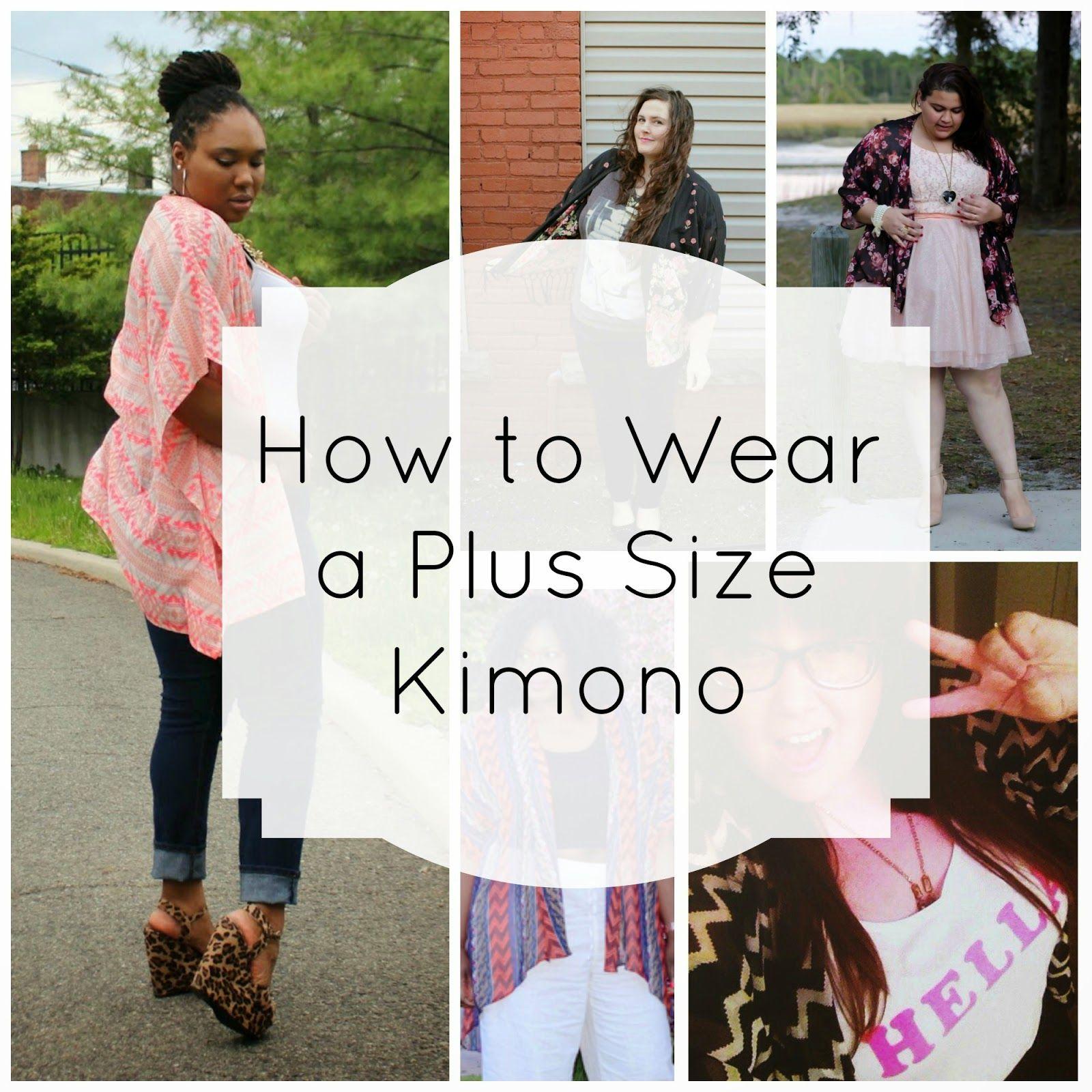 How to Wear a Plus Size Kimono | Plus size kimono, Plus size ...