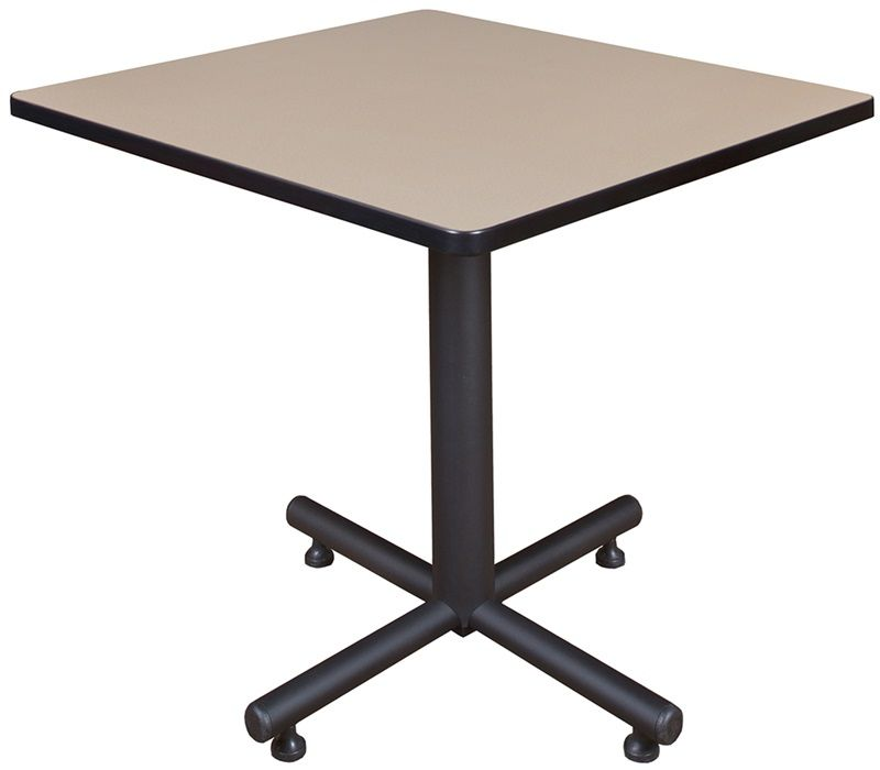 Kobe 30'' Square Laminate Breakroom Table with PVC Edge - Beige