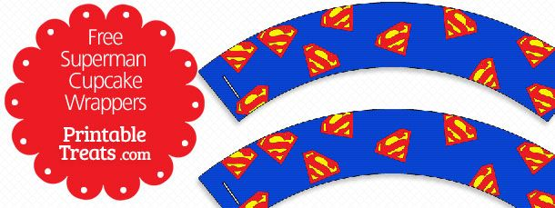 photograph relating to Free Printable Superman Template referred to as Free of charge Printable Superman Cupcake Wrappers Do it yourself Exciting