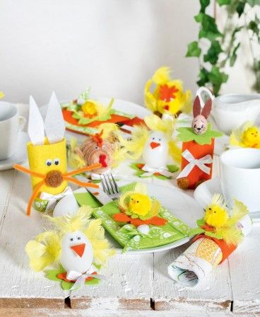 Fabriquer des décorations de table pour Pâques : kit créatif ...