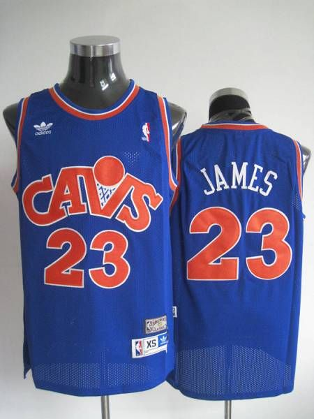 6fade0d4f06 Mitchell and Ness Cavaliers  23 LeBron James Stitched Blue CAVS NBA Jersey