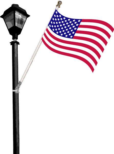 Street Pole American Flag Sets Light Pole American Flag Flag