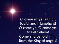 O Come All Ye Faithful PowerPoint with Lyrics | Faith, Lyrics, Christmas carol