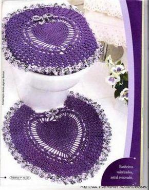 792d110a82d0 Ideas para el hogar: Juegos de baños tejidos | Baños Vestidos ...