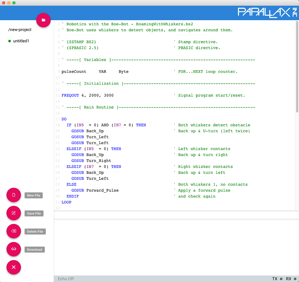 Open Source Parallax IDE Runs In Chrome Program A BASIC Stamp From Mac
