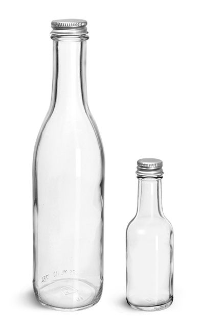e06fd5b87f9 Clear Glass Woozy Bottle w  PE Lined Aluminum Caps from SKS Bottle and  Packaging