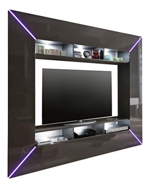 Billig Tv Möbel Grau Hochglanz
