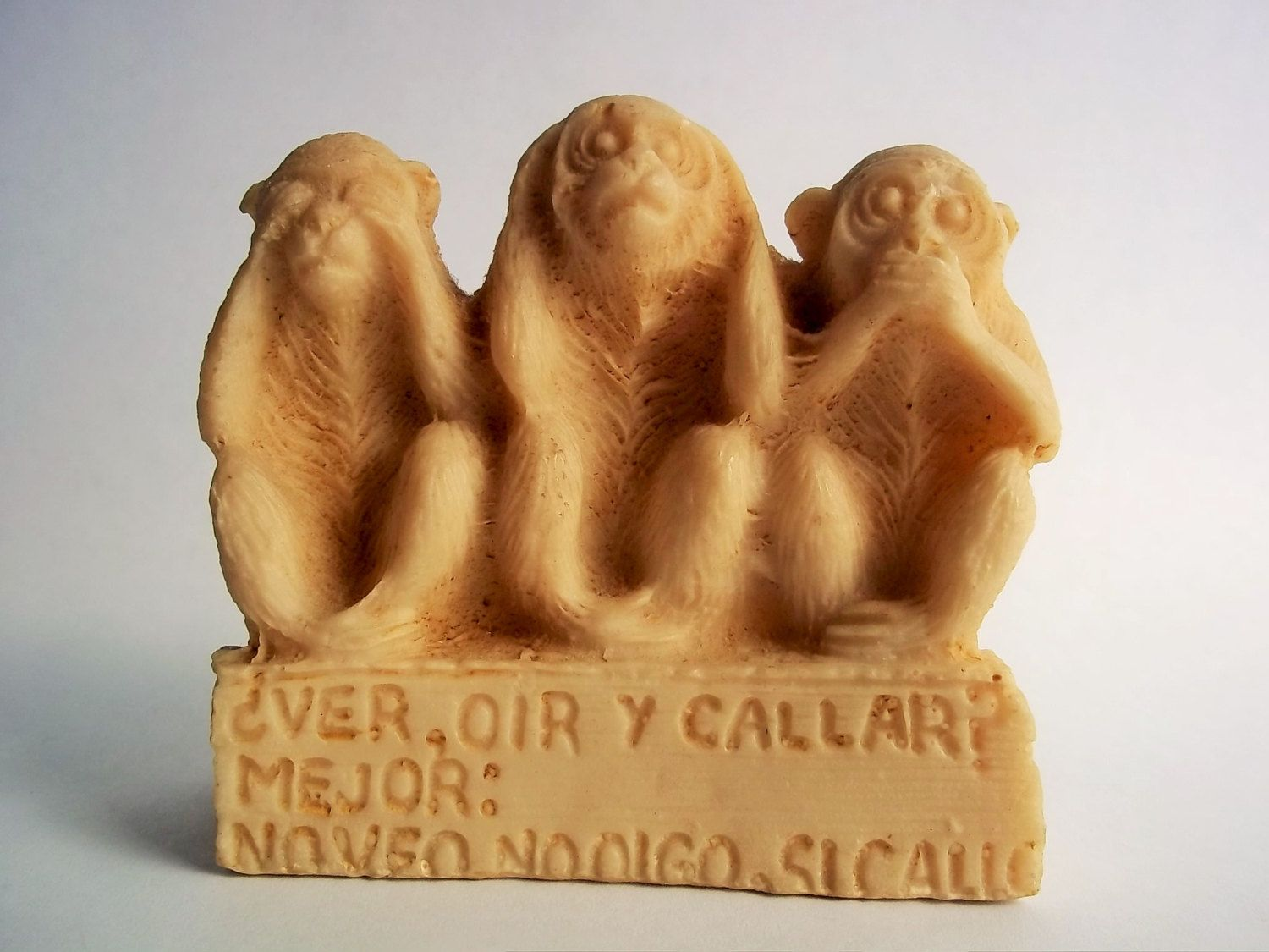 Vintage Figurine Monkeys See No Evil Hear No Evil Speak