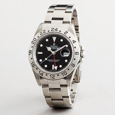 Mens Rolex Explorer II Date Stainless Steel w Black Dial 16570 FV12A 000000004267   eBay