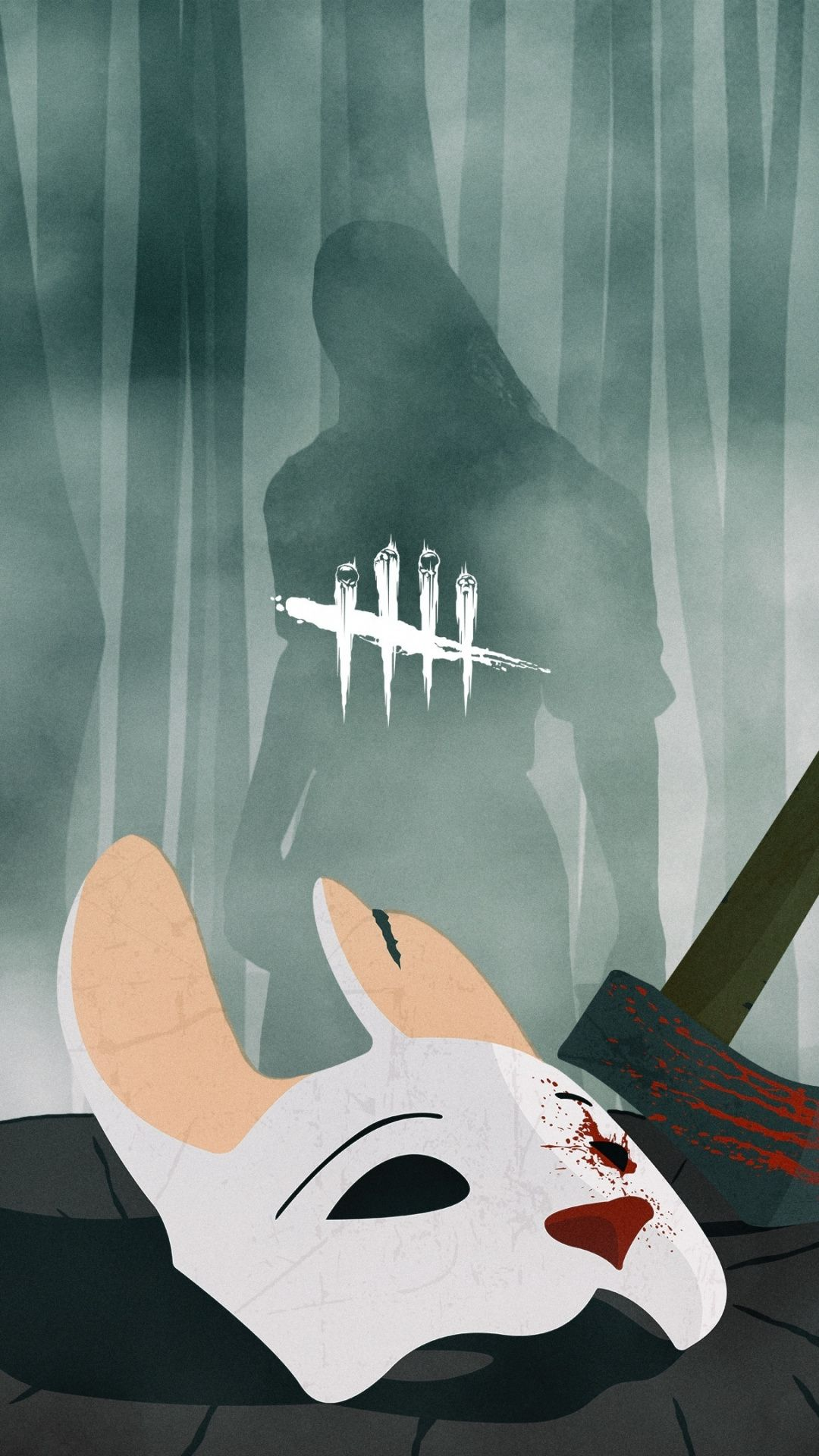 Huntress Dead By Daylight Mask And Axe Game 1080x1920 Wallpaper Horror Characters Dragon Ball Artwork Horror Villians