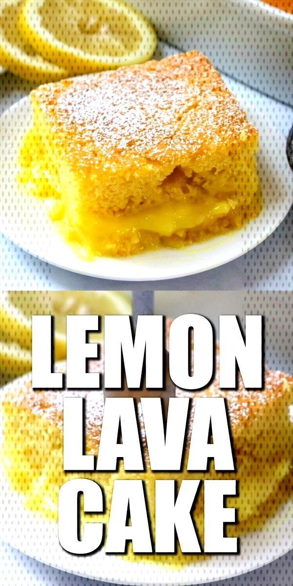 EASY LEMON LAVA CAKE -