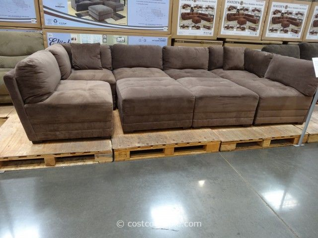 Hayden Sectional Sofa With Reversible Chaise Cheapest Pull Out Bed Marks And Cohen 8 Piece Modular Fabric Costco 7 Want For Family Room Like A Pit