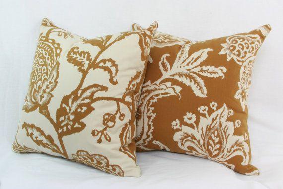 28X28 Pillow Insert Tan Ivory Floral Reversible Pillow Cover 18X18 20X20 22X22 24X24
