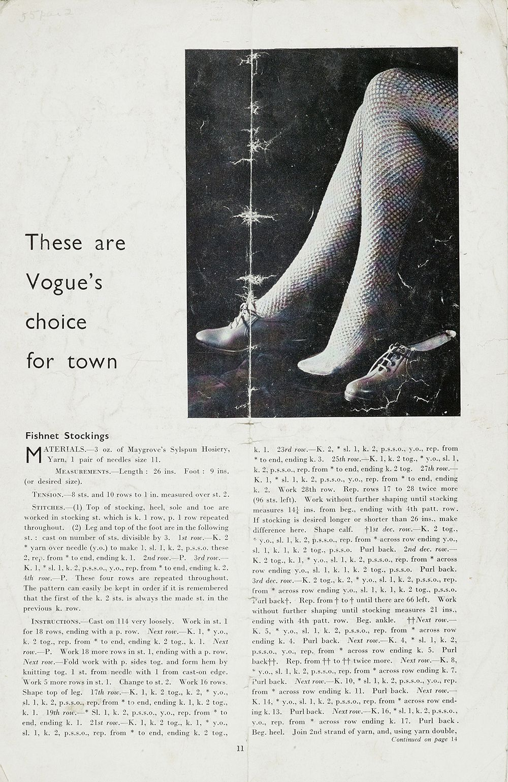 Free Vintage 1940s Fishnet Stockings Knitting Pattern And Tutorial