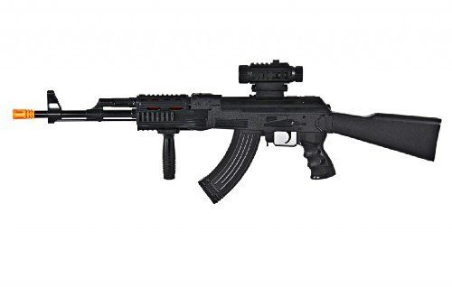 Real Sound /& Light Vibrating Pretend Play Rifle Gun Toy For Children