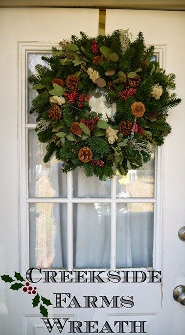 Creekside Farms Berries and Moss Wreath for the holidays. #sp