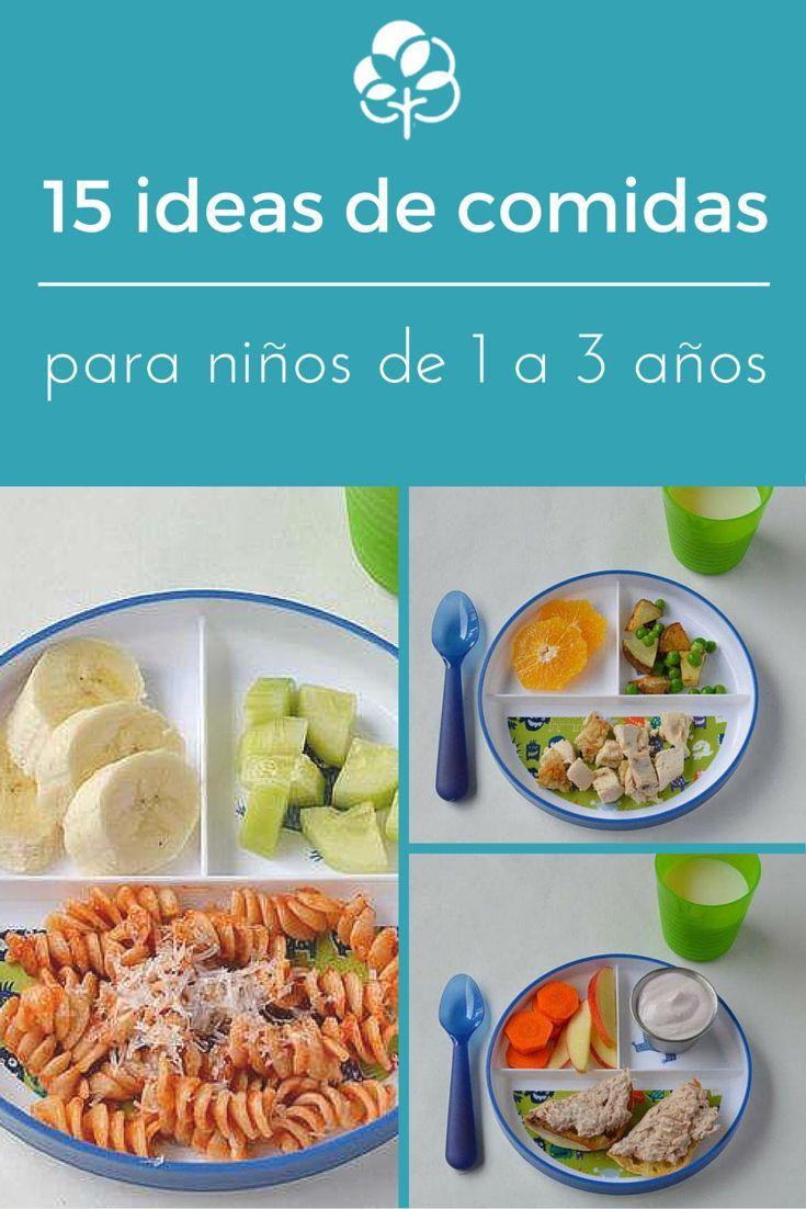 15 Ideas De Comidas Para Ni Os De 1 A 3 A Os Fotos Ideas De  ~ Recetas Faciles Para Cenar  Ninos