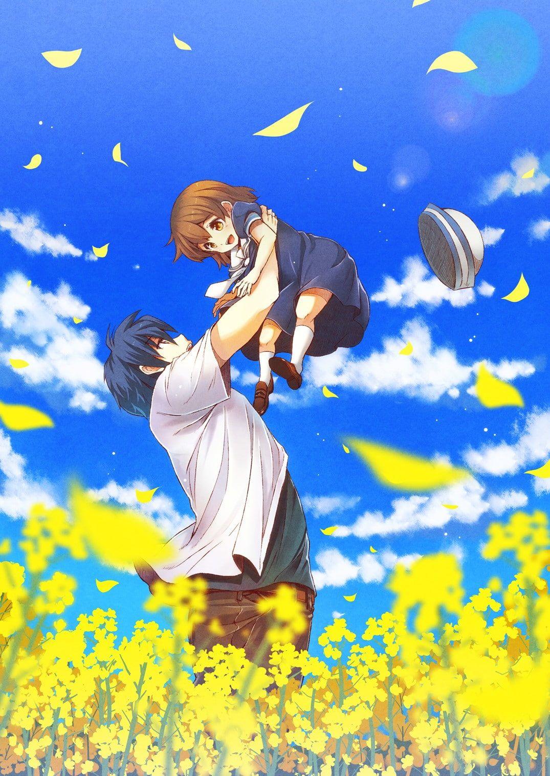 HD wallpaper: Clannad, Tomoya Okazaki, Ushio Okazaki, emotion, young adult