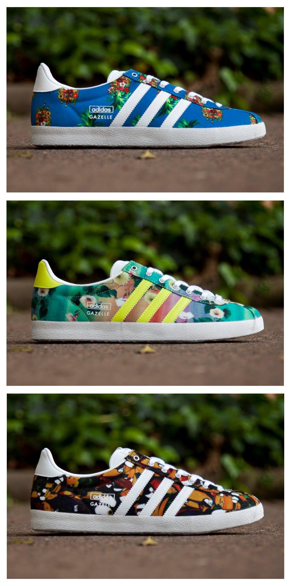 "pretty nice 002d1 fe411 The Farm Company x adidas Originals Gazelle ""Floral"" Collection"
