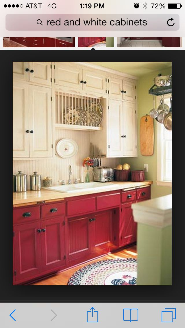 pretty kitchen for the home painting kitchen cabinets red rh pinterest ca