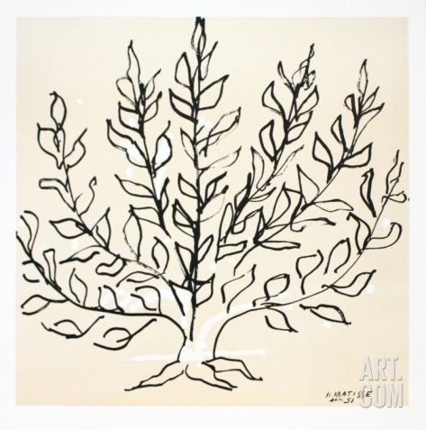 Le Buisson Serigraph by Henri Matisse at Art.com