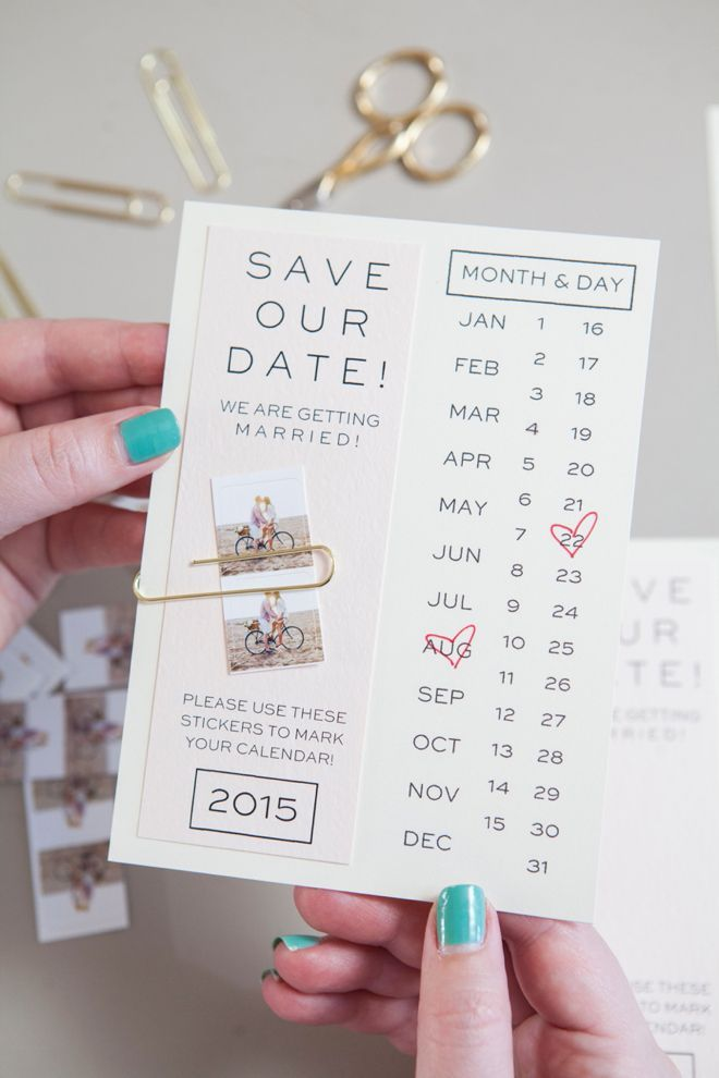 make your own save the dates with this printable invitation and your own instagram photos - Make Wedding Invitations