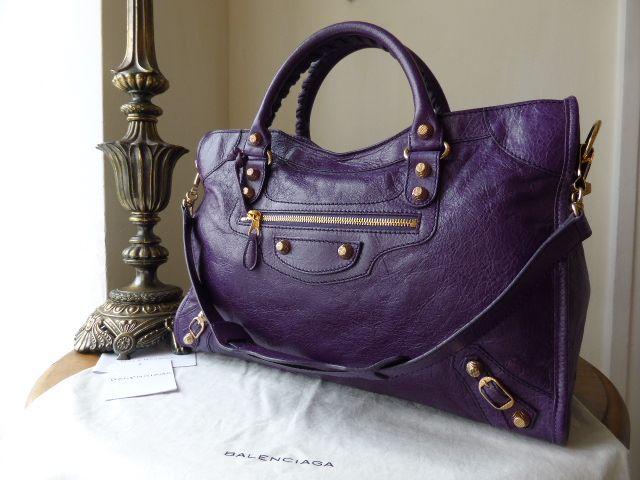 fdd1c64fb0 violet balenciaga city bag