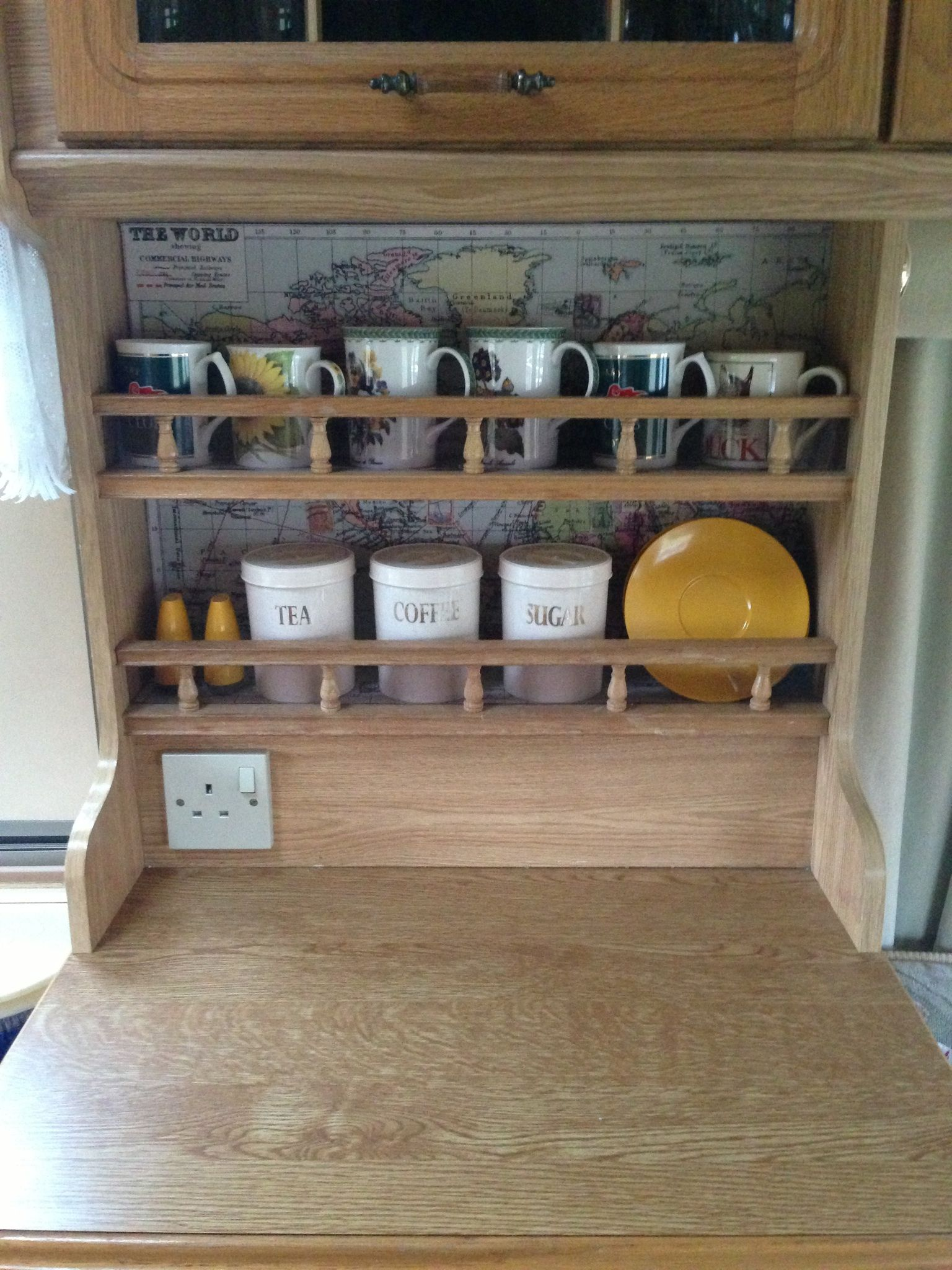 line the back of the cupboards/shelves with maps! | how to make a ...