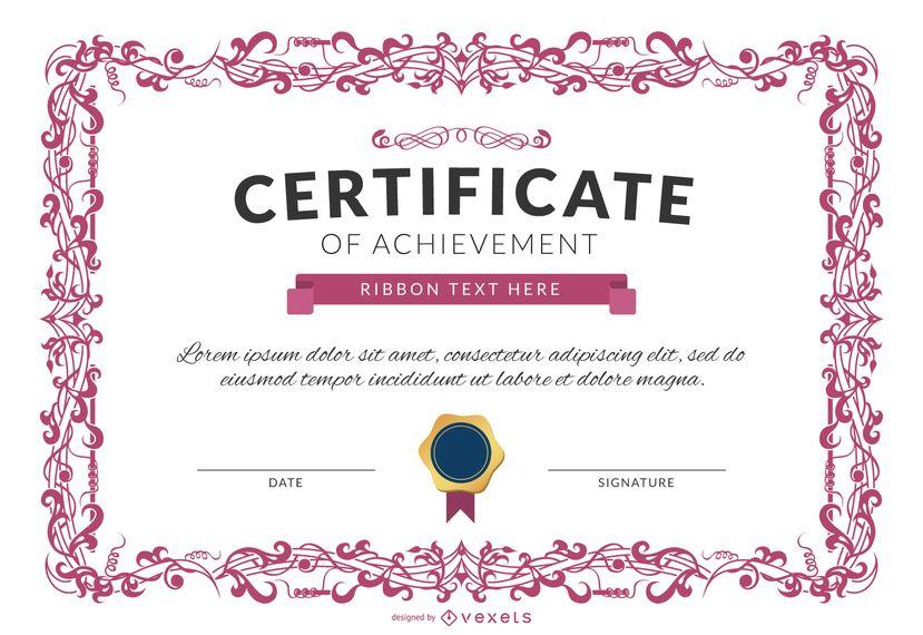 Certificado de aprovechamiento plantilla maqueta | Certificados y ...