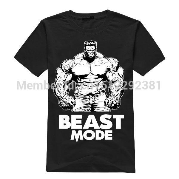 9644de74 Bodybuilding Weightlifting T-Shirts   Aliexpress.com : Buy Beast Mode  Bodybuilding Powerlifting Shirt Men .