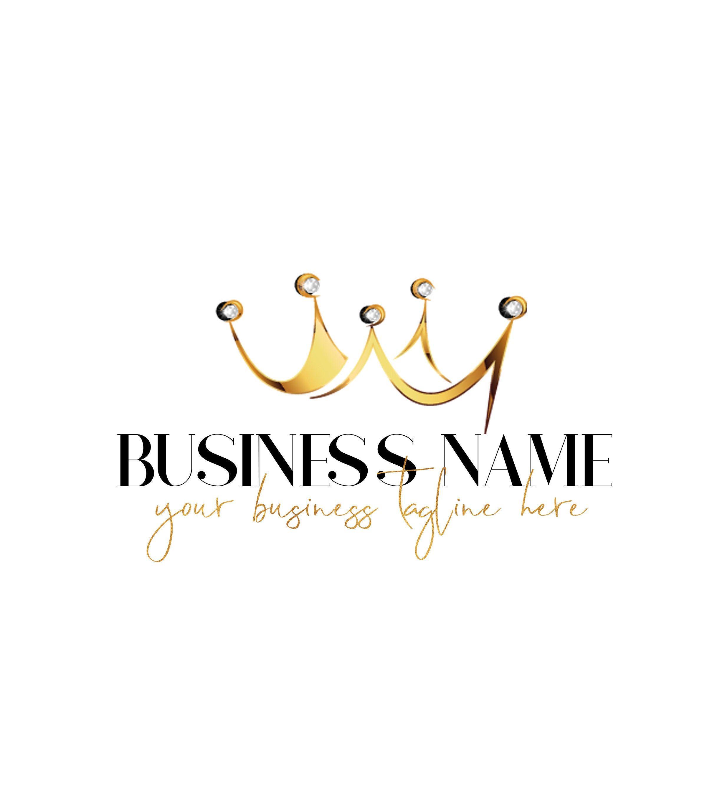 Logo Design, Gold Logo Design, Crown Logo Design, Fashion