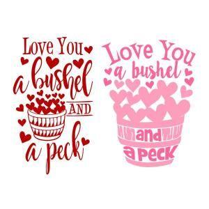 Download A Bushel A Peck Cuttable Design | Valentine shirts vinyl ...