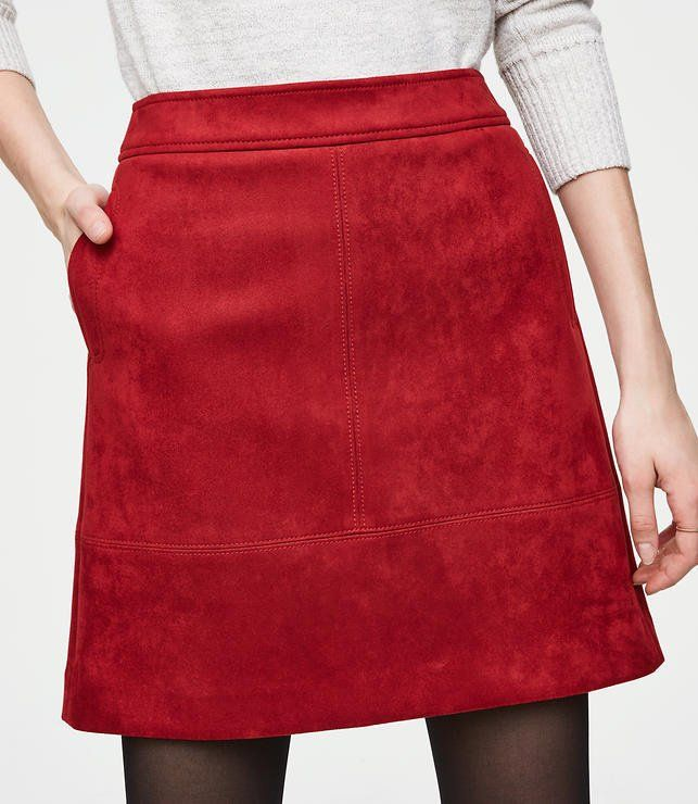 793d36834d9fd This faux suede skirt is oh so cool and totally luxe