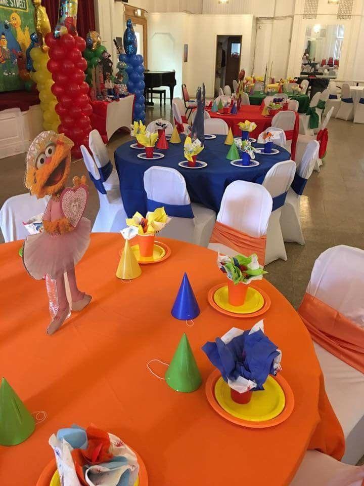 Sesame Street Birthday Party Table Setting And Decor Ellisillusion