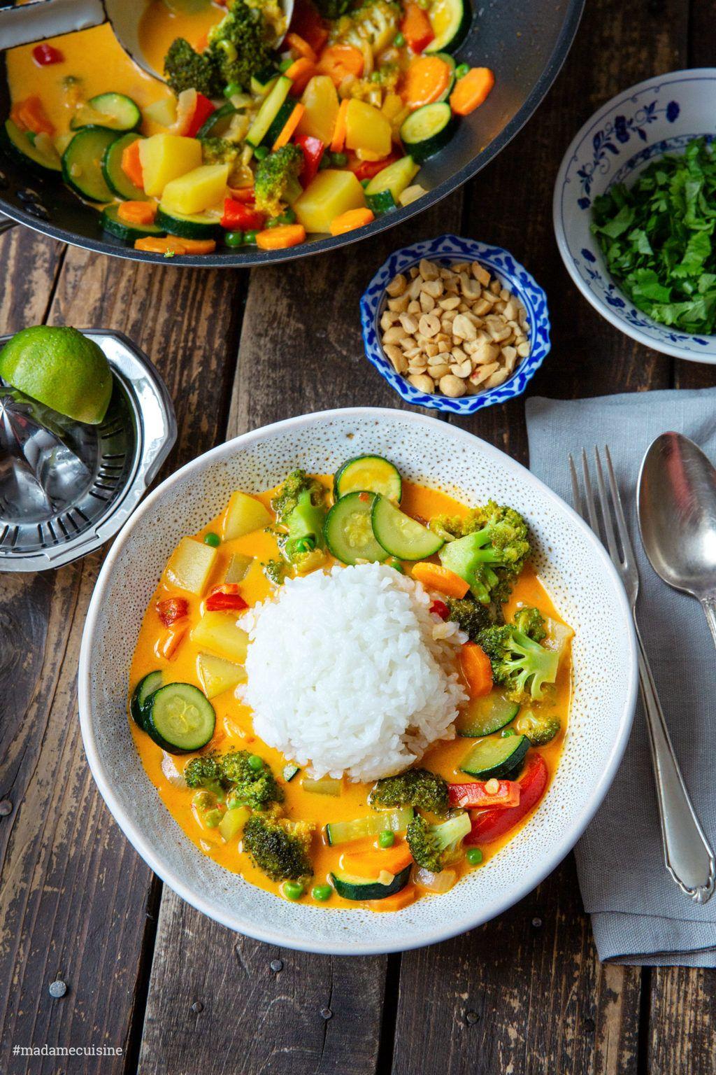 47+Curry mit Reis und Gemüse   Madame Cuisine
