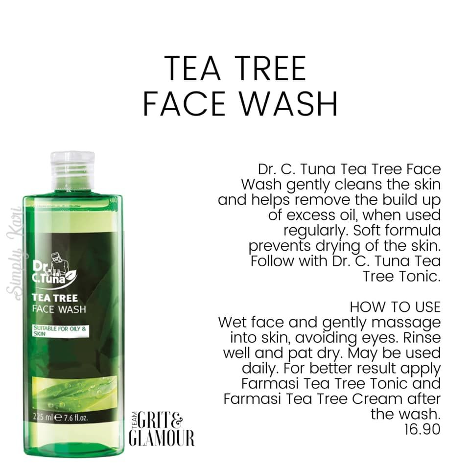 Dr C Tuna Tea Tree Face Wash Gently Cleans The Skin And Helps